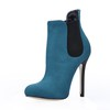 Stretch Fabric Pumps/Heels Average Wedding Pointed Toe Women's Booties/Ankle Boots