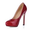 Dress Pumps/Heels Narrow Stiletto Heel Girls' Round Toe Opalescent Lacquers
