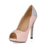 Girls' Pumps/Heels Narrow Sandals Stiletto Heel Sequined Cloth/Sparkling Glitter Office & Career