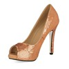 Graduation Wedding Shoes Narrow Sequined Cloth/Sparkling Glitter Women's Sequin Pumps/Heels