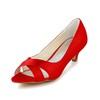 Satin Pumps/Heels Low Heel Honeymoon Sandals Women's