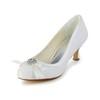 Graduation Wedding Shoes Sequined Cloth/Sparkling Glitter Comfort Kitten Heel Bowknot Women's