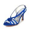 Kitten Heel Wedding Shoes Open Toe Party & Evening Satin Women's