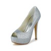 Women's Platforms Stiletto Heel Office & Career Sandals Sequined Cloth/Sparkling Glitter Sparkling Glitter