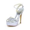 Sandals Dance Shoes Stiletto Heel Dance Buckle Satin Girls'