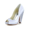 Rhinestone Pumps/Heels Girls' Daily Cone Heel Open Toe Satin