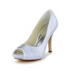 Open Toe Platforms Daily Girls' Stiletto Heel Satin Ruched