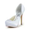 Satin Wedding Shoes Women's Stiletto Heel Sandals Dress