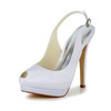 Buckle Wedding Shoes Satin Stiletto Heel Girls' Slingbacks Wedding