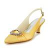 Women's Wedding Shoes Pointed Toe Satin Casual Low Heel Rhinestone