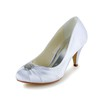 Wedding Wedding Shoes Kitten Heel Girls' Satin Ruched Pumps/Heels