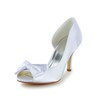Peep Toe Pumps/Heels Satin Casual Women's Kitten Heel Bowknot