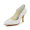 Kitten Heel Pumps/Heels Girls' Rhinestone Satin Pointed Toe Daily