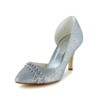 Rhinestone Pumps/Heels Girls' Sequined Cloth/Sparkling Glitter Party & Evening Kitten Heel Sandals