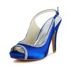 Wedding Wedding Shoes Rhinestone Slingbacks Satin Stiletto Heel Women's