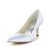Graduation Wedding Shoes Sparkling Glitter Girls' Pointed Toe Kitten Heel Satin