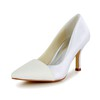 Split Joint Pumps/Heels Satin Women's Casual Pointed Toe Kitten Heel