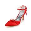 Pumps/Heels Pumps/Heels Kitten Heel Bowknot Satin Dance Women's
