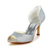 Peep Toe Wedding Shoes Kitten Heel Girls' Sequined Cloth/Sparkling Glitter Sparkling Glitter Graduation