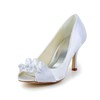 Wedding Wedding Shoes Satin Flower Peep Toe Kitten Heel Women's Satin