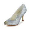 Round Toe Wedding Shoes Sparkling Glitter Kitten Heel Outdoor Sequined Cloth/Sparkling Glitter Girls'