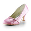 Kitten Heel Pumps/Heels Casual Average Round Toe Satin Rhinestone