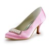Women's Pumps/Heels Satin Graduation Average Kitten Heel Rhinestone