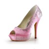 Graduation Wedding Shoes Rhinestone Average Pumps/Heels Women's Satin