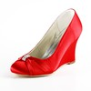 Girls' Pumps/Heels Rhinestone Satin Round Toe Outdoor Average
