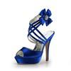 Rhinestone Wedding Shoes Average Stiletto Heel Round Toe Women's Satin