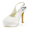 Buckle Pumps/Heels Closed Toe Dress Stiletto Heel Girls' Silk Like Satin