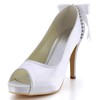 Girls' Platforms Silk Like Satin Stiletto Heel Round Toe Rhinestone Graduation