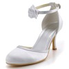 Women's Pumps/Heels Flower Wedding Kitten Heel Pumps/Heels Silk Like Satin