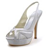 Silk Like Satin Platforms Stiletto Heel Party & Evening Slingbacks Women's