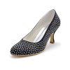 Pumps/Heels Wedding Shoes Kitten Heel Rhinestone Wedding Silk Like Satin Girls'
