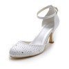 Women's Wedding Shoes Office & Career Sandals Low Heel Silk Like Satin Buckle