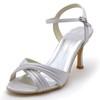 Party & Evening Wedding Shoes Silk Like Satin Open Toe Buckle Kitten Heel Girls'