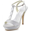 Silk Like Satin Platforms Stiletto Heel Pumps/Heels Rhinestone Graduation Women's