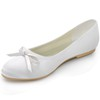 Honeymoon Loafers Bowknot Flat Heel Round Toe Silk Like Satin Girls'