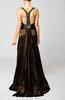 Elegant Sleeveless Backless Court Train Beaded Wedding Guest Dresses