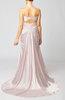 Romantic Sweetheart Sleeveless Zipper Elastic Woven Satin Prom Dresses