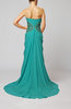 Elegant Sleeveless Zipper Chiffon Court Train Draped Wedding Guest Dresses