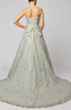 Elegant Hall A-line Strapless Sleeveless Organza Bridal Gowns