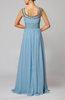 Vintage Scoop Sleeveless Chiffon Floor Length Paillette Wedding Guest Dresses