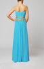 Elegant Empire Strapless Chiffon Floor Length Evening Dresses