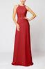 Elegant Column Sleeveless Zip up Pleated Evening Dresses