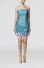 Modern Strapless Sleeveless Zip up Taffeta Short Club Dresses