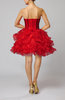 Sexy Baby Doll Sleeveless Organza Mini Tiered Prom Dresses