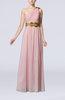 Elegant Sheath One Shoulder Chiffon Pleated Prom Dresses