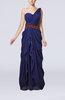 Romantic Column Sleeveless Chiffon Floor Length Evening Dresses